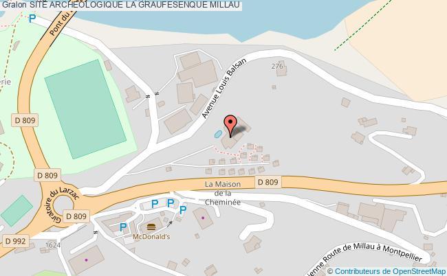 plan Site Archeologique La Graufesenque Millau