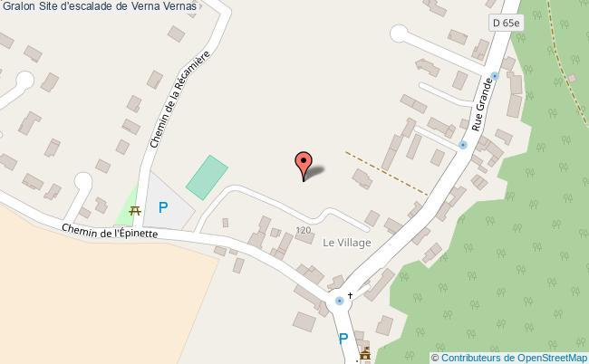 plan Site D'escalade De Verna Vernas