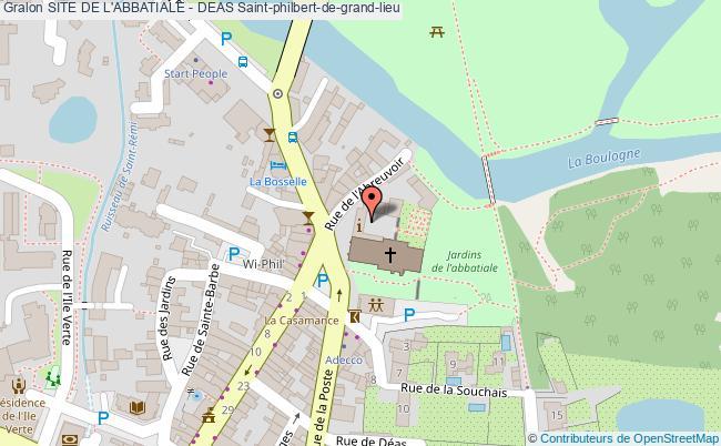 plan Site De L'abbatiale - Deas Saint-philbert-de-grand-lieu