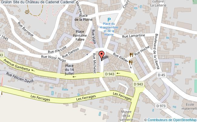 plan Site Du Château De Cadenet Cadenet