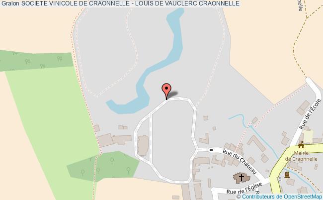 plan Societe Vinicole De Craonnelle - Louis De Vauclerc Craonnelle