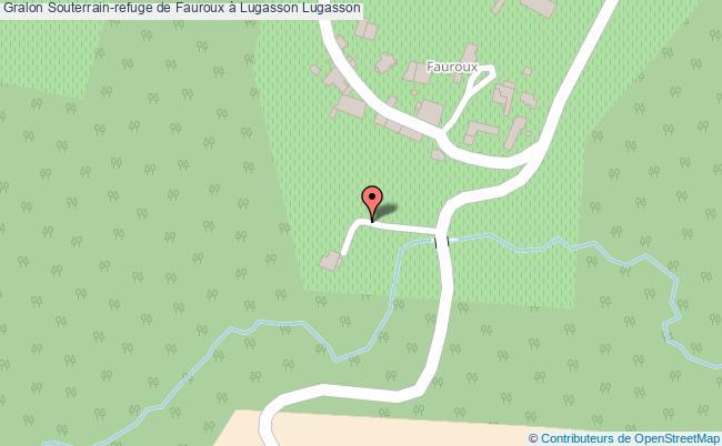 plan association Souterrain-refuge De Fauroux à Lugasson Lugasson Lugasson