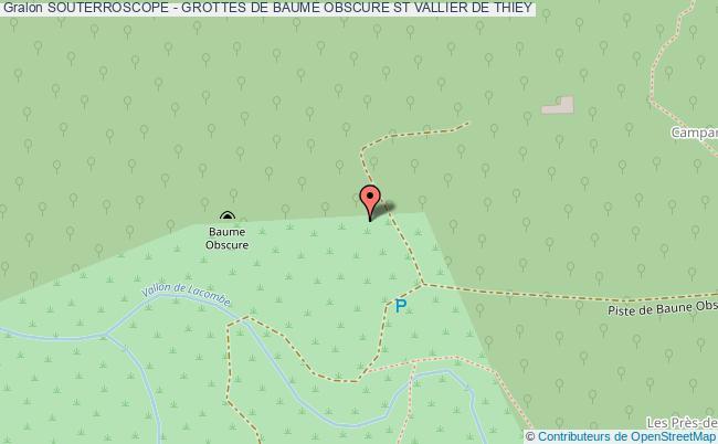 plan Souterroscope - Grottes De Baume Obscure St Vallier De Thiey