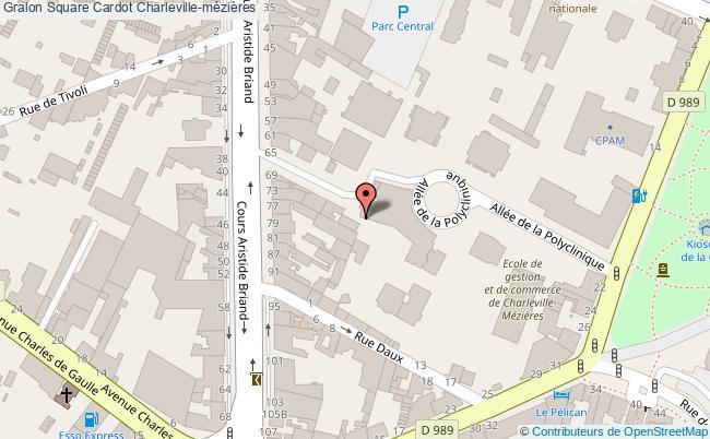 plan Square Cardot Charleville-mézières