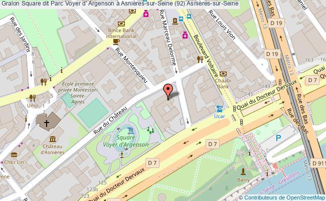 plan association Square Dit Parc Voyer D' Argenson à Asnières-sur-seine (92) Asnières-sur-seine Asnières-sur-Seine