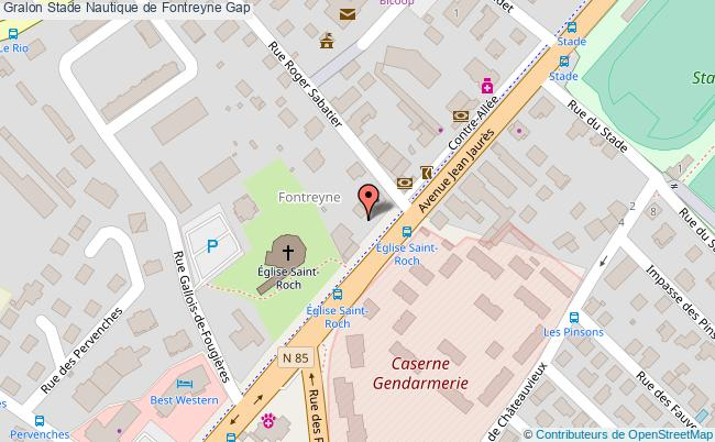 plan Stade Nautique De Fontreyne Gap