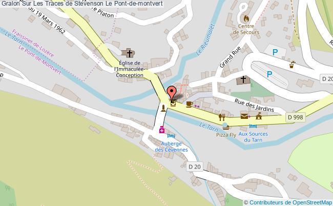 plan association Sur Les Traces De Stevenson Le Pont-de-montvert Le Pont-de-montvert