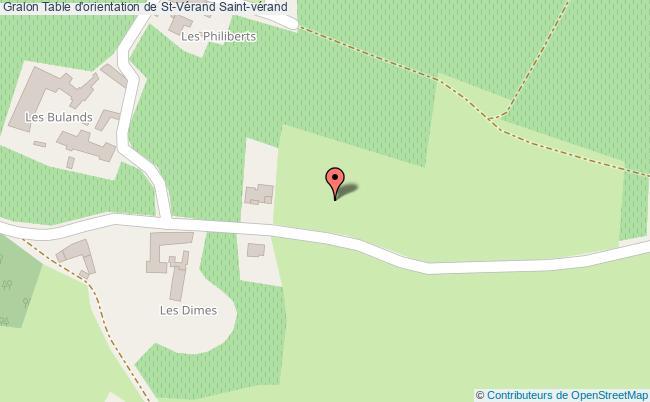 plan Table D'orientation De St-vérand Saint-vérand