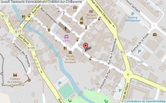 plan Tapisserie D'ameublement Châtillon-sur-chalaronne