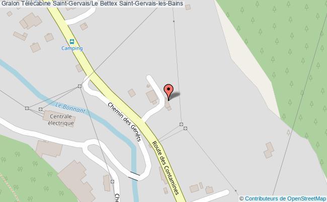 plan Télécabine Saint-gervais/le Bettex Saint-gervais-les-bains