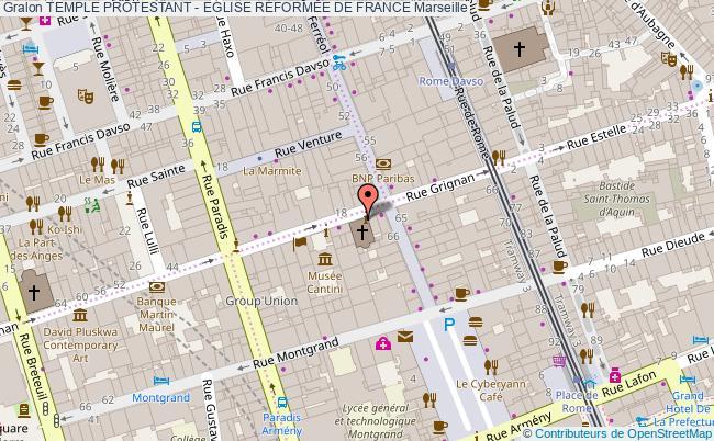 plan association Temple Protestant - Eglise RÉformÉe De France Marseille Marseille