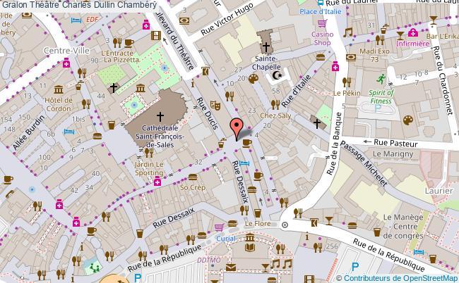 plan association Théâtre Charles Dullin Chambéry Chambéry