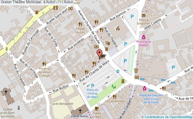 plan Théâtre Municipal. à Autun (71) Autun