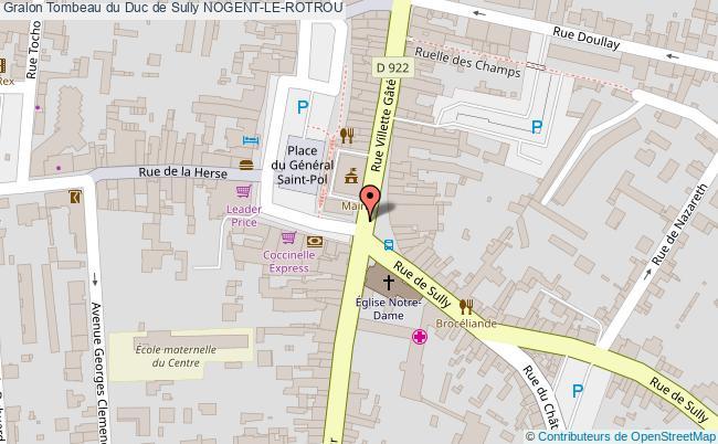 plan Tombeau Du Duc De Sully Nogent-le-rotrou