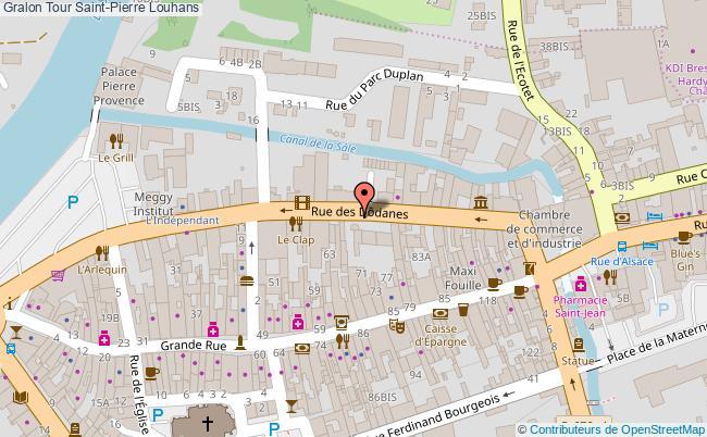 plan association Tour Saint-pierre Louhans Louhans