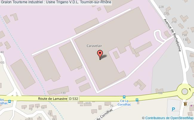 plan Tourisme Industriel : Usine Trigano V.d.l. Tournon-sur-rhône