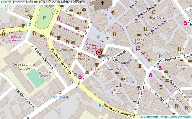plan Trompe-l'oeil De La Place De La Motte Limoges