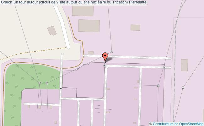 plan Un Tour Autour (circuit De Visite Autour Du Site Nucléaire Du Tricastin) Pierrelatte