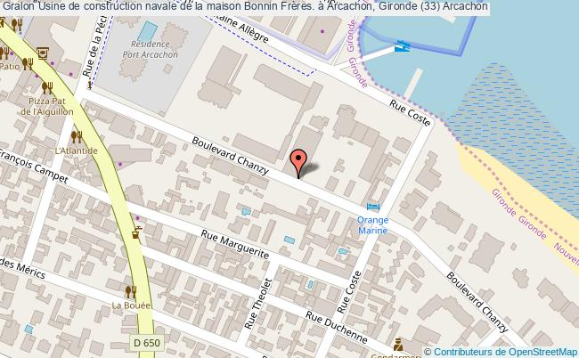 plan Usine De Construction Navale De La Maison Bonnin Frères. à Arcachon, Gironde (33) Arcachon
