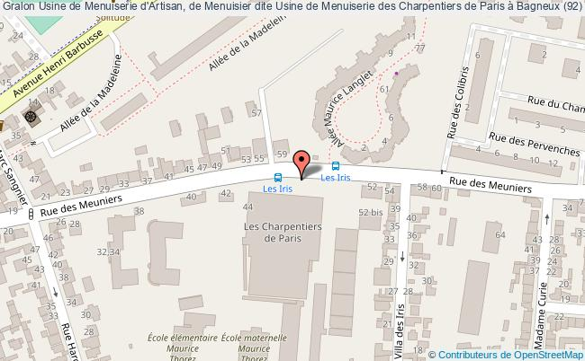 plan Usine De Menuiserie D'artisan, De Menuisier Dite Usine De Menuiserie Des Charpentiers De Paris à Bagneux (92) Bagneux
