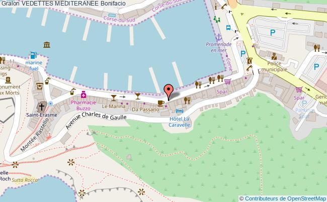 plan Vedettes Mediteranee Bonifacio