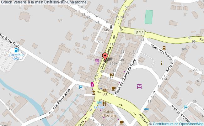 plan Verrerie à La Main Châtillon-sur-chalaronne