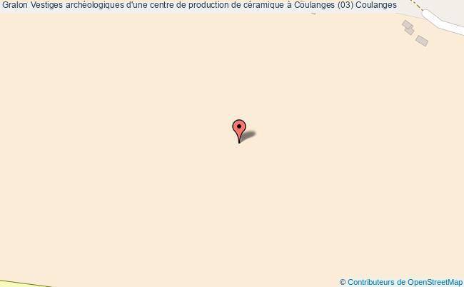 plan Vestiges Archéologiques D'une Centre De Production De Céramique à Coulanges (03) Coulanges