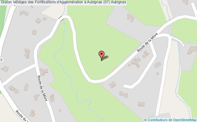 plan Vestiges Des Fortifications D'agglomération à Aubignas (07) Aubignas