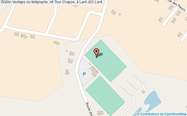 plan Vestiges Du Télégraphe, Dit Tour Chappe, à Lavit (82) Lavit