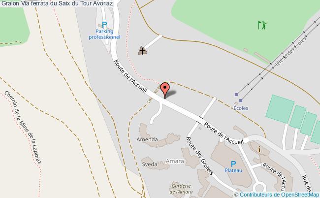 plan association Via Ferrata Du Saix Du Tour Avoriaz Avoriaz
