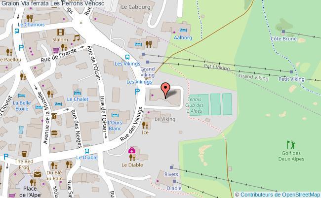 plan Via Ferrata Les Perrons Vénosc