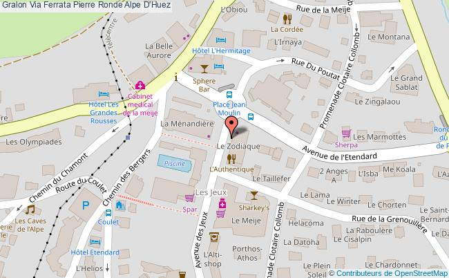 plan Via Ferrata Pierre Ronde Alpe D'huez