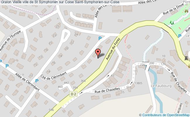 plan Vieille Ville De St Symphorien Sur Coise Saint-symphorien-sur-coise