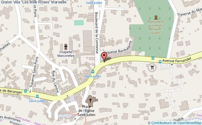 """plan Villa """"les Mille Roses"""" Marseille"""