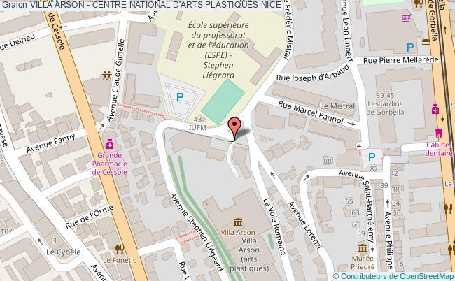 plan Villa Arson - Centre National D'arts Plastiques Nice