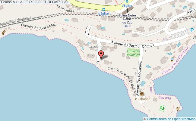 plan Villa Le Roc Fleuri Cap D Ail