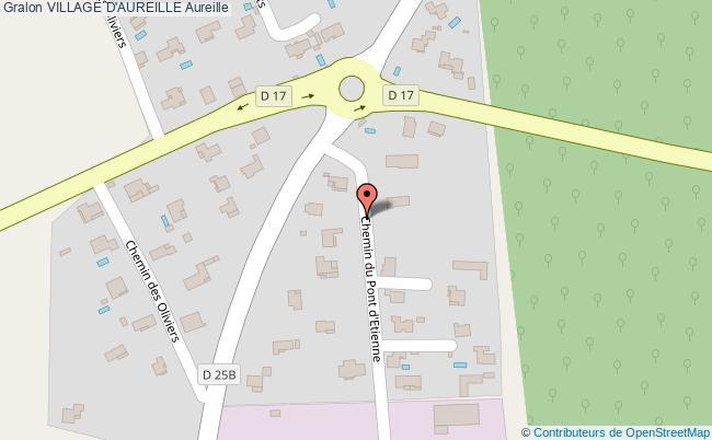plan Village D'aureille Aureille