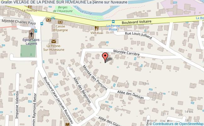 plan Village De La Penne Sur Huveaune La Penne Sur Huveaune