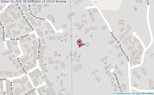 plan Village De Miramas Le Vieux Miramas