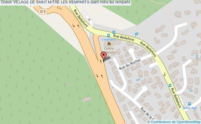 plan Village De Saint Mitre Les Remparts Saint Mitre Les Remparts
