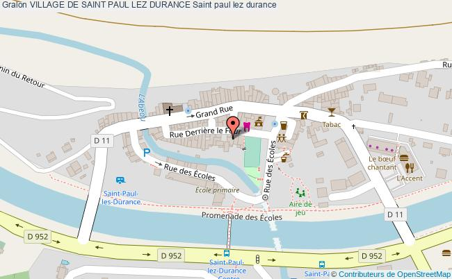 plan Village De Saint Paul Lez Durance Saint Paul Lez Durance
