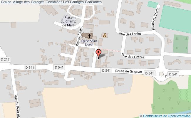 plan association Village Des Granges Gontardes Les Granges-gontardes Les Granges-Gontardes