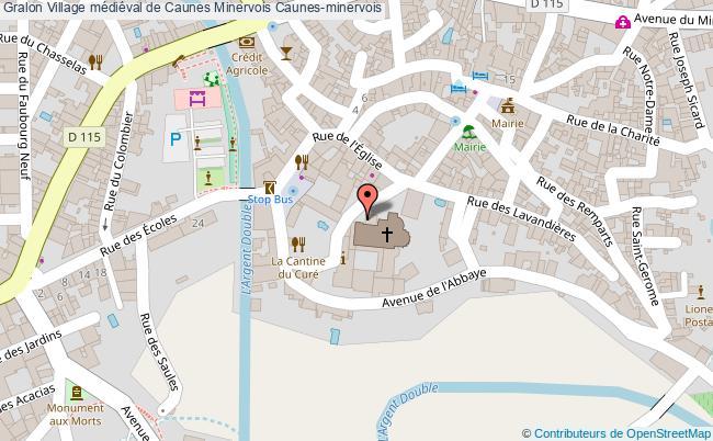 plan Village Médiéval De Caunes Minervois Caunes-minervois
