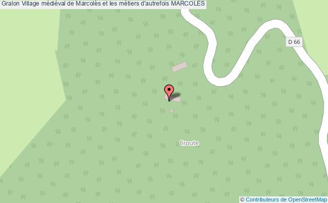 plan Village Médiéval De Marcolès Et Les Métiers D'autrefois MarcolÈs
