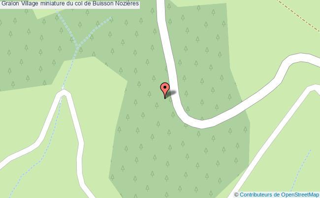 plan Village Miniature Du Col De Buisson Nozières