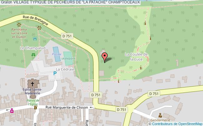 """plan Village Typique De Pecheurs De """"la Patache"""" Champtoceaux"""