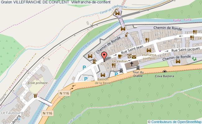 plan Villefranche De Conflent  Villefranche-de-conflent