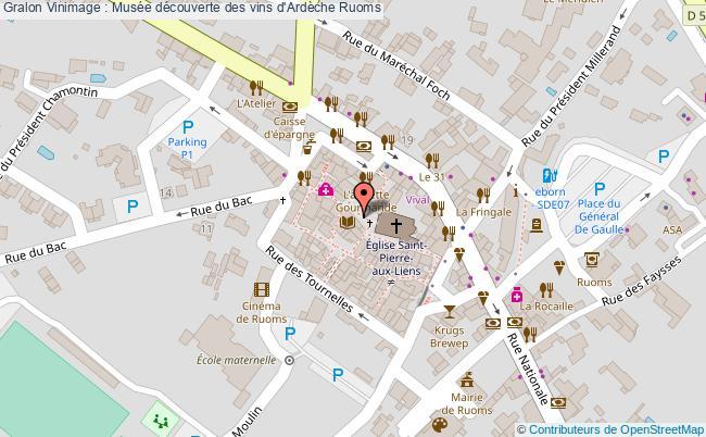 plan association Vinimage : Musée Découverte Des Vins D'ardèche Ruoms Ruoms