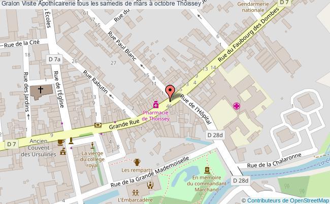 plan Visite Apothicairerie Tous Les Samedis De Mars à Octobre Thoissey