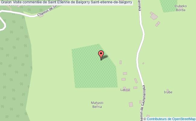 plan Visite Commentée De Saint Etienne De Baïgorry Saint-etienne-de-baigorry